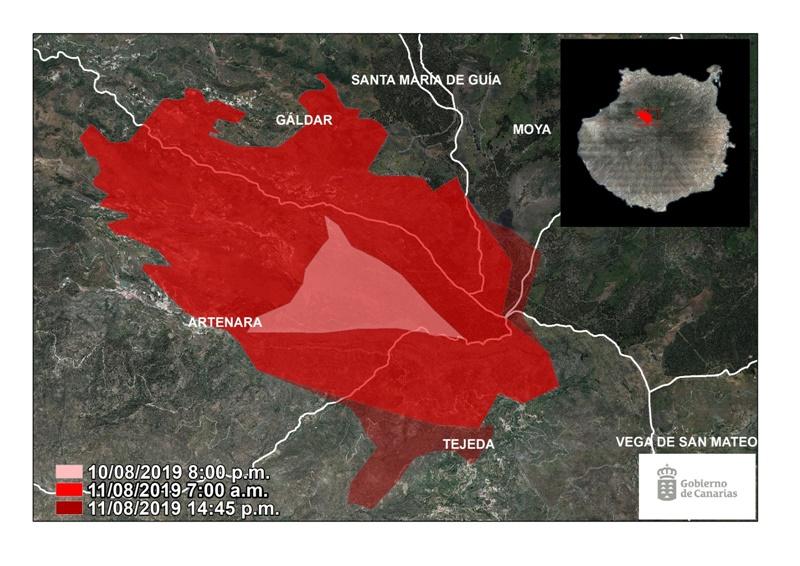 Incendio forestal devastó más de mil hectáreas en Gran Canaria